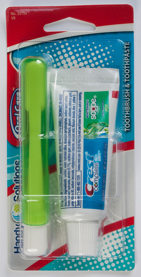 Toothbrush & Toothpaste - Click Image to Close